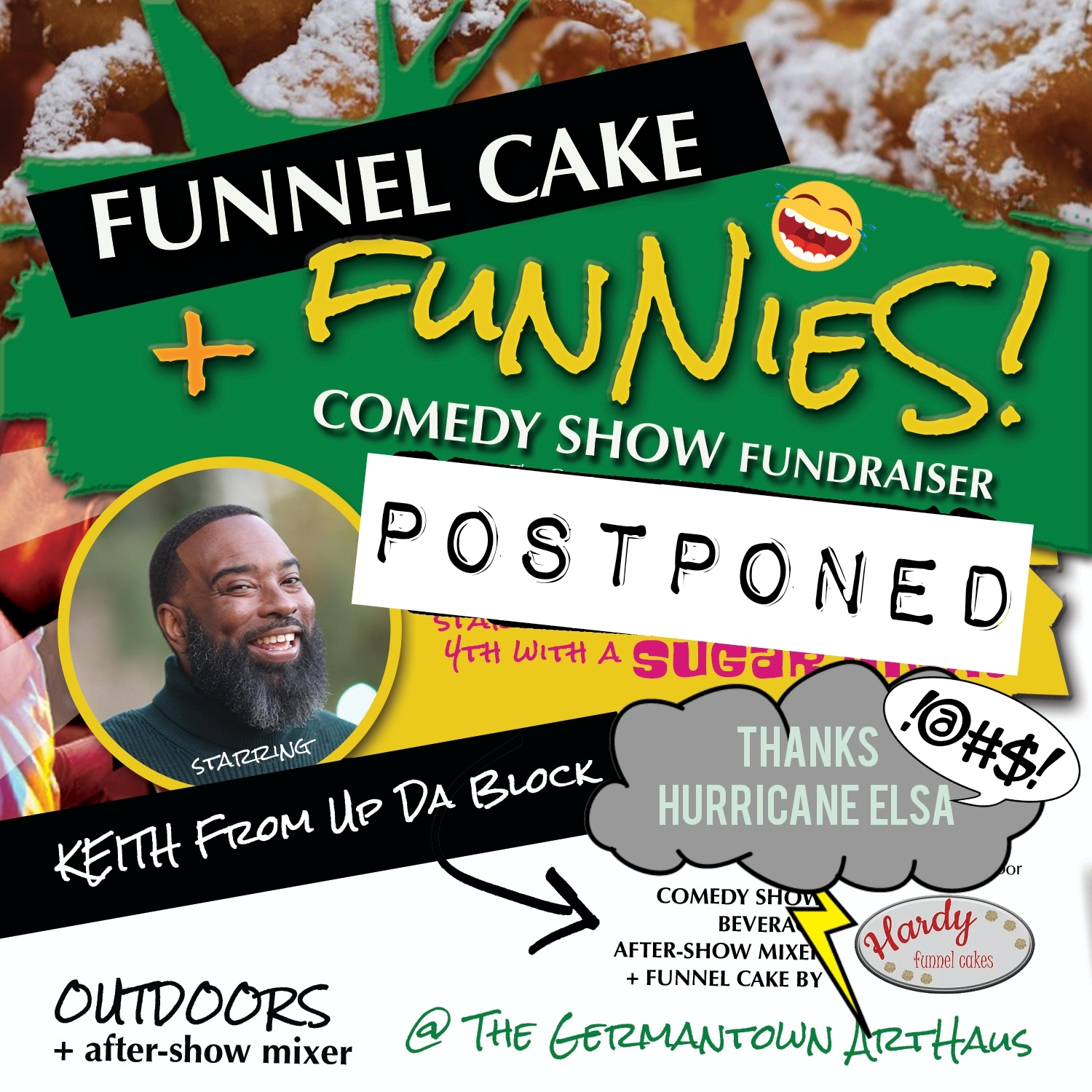 Comedy Show Postponed graphis